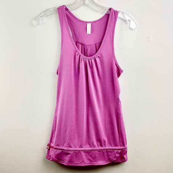 Lucy Tops - 💘 Lucy Active Wear Tank Draw String Hem Purple XS